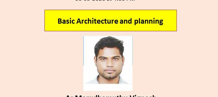 Webinar on Basic Architectural and Planning