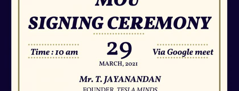 MoU with M/S Tesla Minds