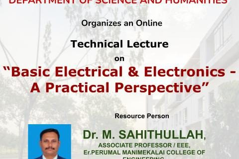 Basic Electrical & Electronics -A Practical Perspective