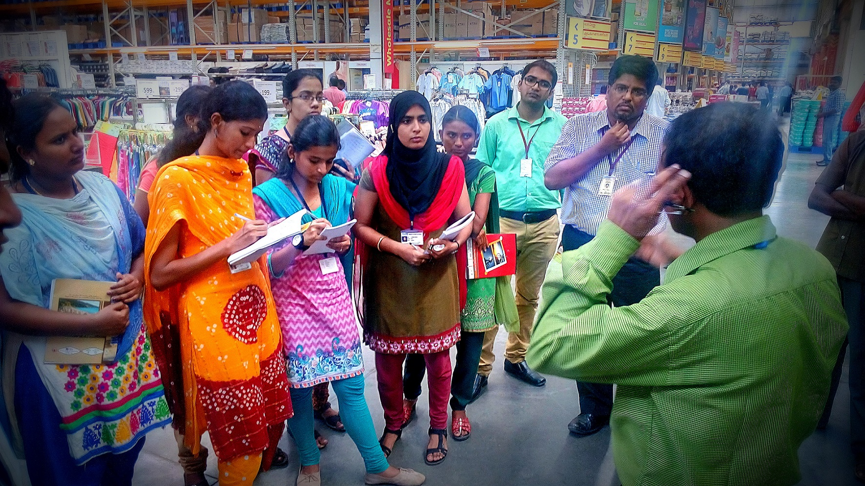 A Visit to Study Wholesale Retail Format and the Best Retail Practices at Reliance Market, Trichy – Mr. Chowdry – Manager Operations, Reliance Market