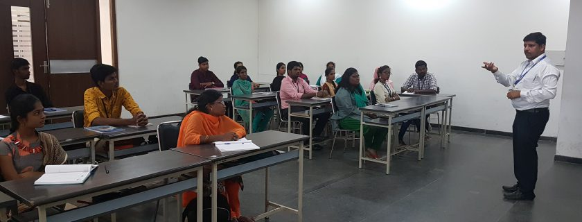 """A guest lecture on """"Talent Acquisition"""" by Mr. Riaz Ahamed, Deputy Manager – HCL"""