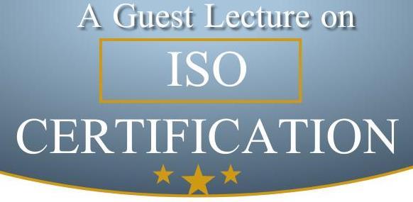 ISO Certification – Mr. Karthi Thiyagarajan, Lead Consultant, Nucleus Consultants, Chennai