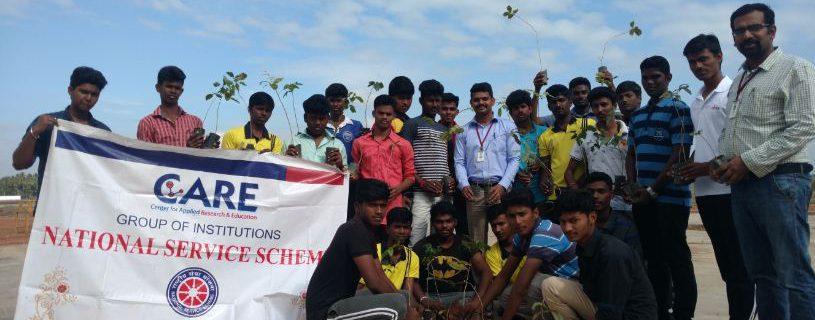 NSS & ECO CARE Saplings Plantation
