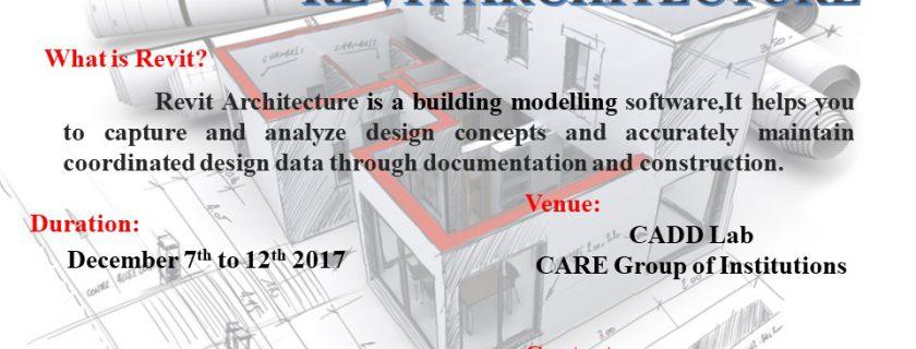 5 Days Workshop on Revit Architechture
