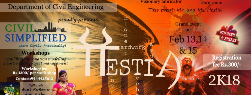 HESTIA 18 – A National Level Technical Symposium 13-15 Feb 2018