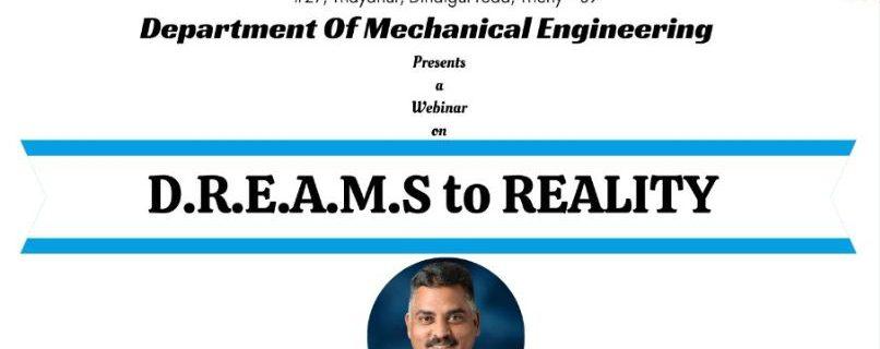 5th Webinar D.R.E.A.M.S to REALITY