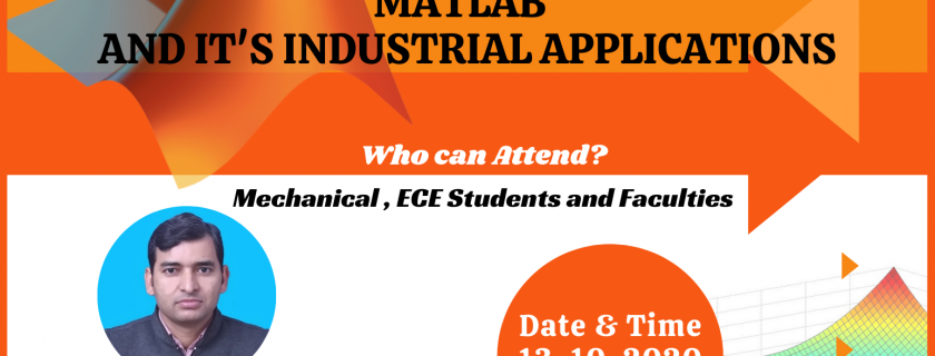 "9th Webinar  "" Introduction to Matlab and It's Industrial Application''"