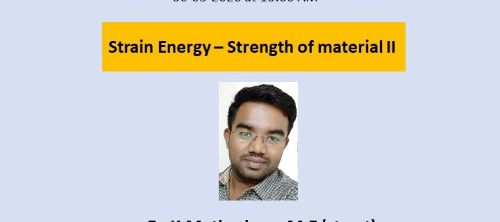 Webinar on Strain Energy -SOMII