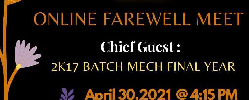 Mechanical Engineering Online Farewell Party 2021